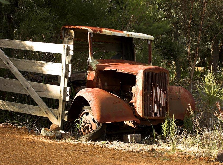 Rotting truck